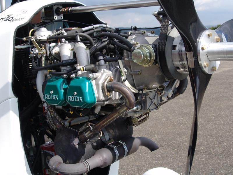 Rotax-Motor des MT0Sport